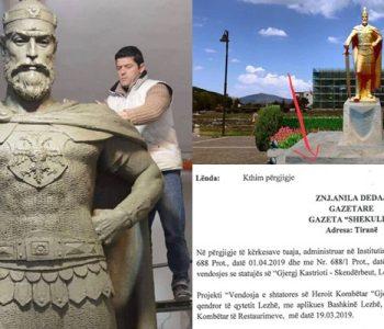 """""""Skënderbeu"""" në kantier, skulptori: Çështja është politike!"""