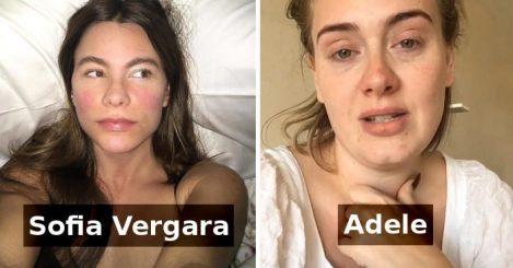 Ja si duken disa nga personat më të famshëm pa make-up (Foto)