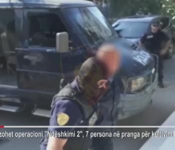 Goditet grupi kriminal i drogës në Krujë, në pranga 7 persona (Video)