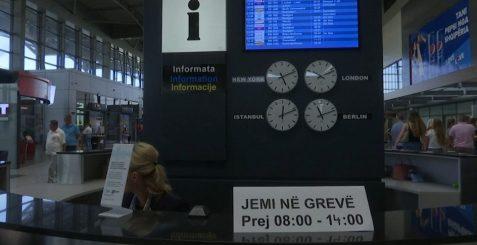 Punonjësit, grevë në aeroportin e Prishtinës