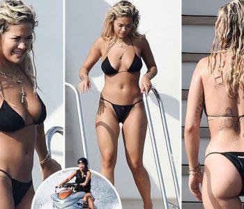 Rita Ora shfaqet provokuese në Itali (Foto)
