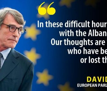 Presidenti i PE: Të gatshëm të ndihmojmë në rindërtimin e Shqipërisë