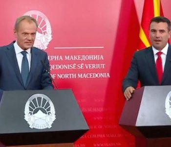 Tusk: Maqedonia e Veriut e bëri të vetën, radhën e ka Evropa
