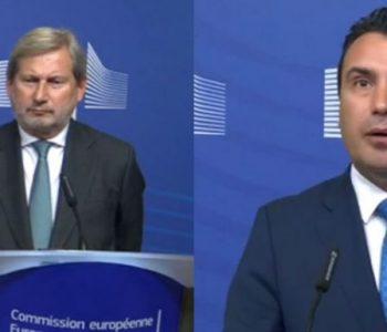 Zohran Zaev takim me Hanh/ Komisioneri për zgjerim: Maqedonisë së Veriut duhet t'i jepet një shans