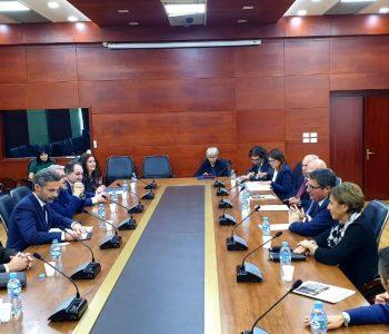 Kreu i KLP pret delegacionin e Zëvendës Presidentit të Këshillit të Lartë të Magjistraturës në Itali