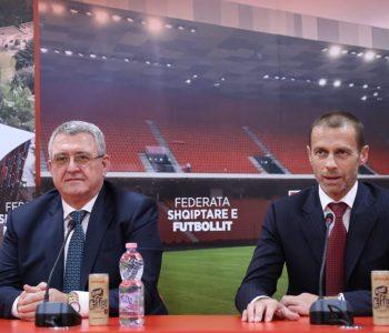 Presidenti i UEFA-s në përurimin e stadiumit të ri: Shqipëria e mbushur me talente