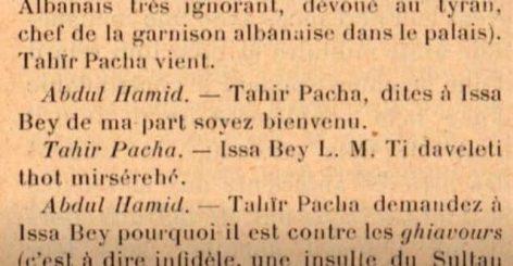 Dokumenti, biseda e Isa Boletinit me sulltan Hamitin