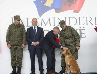 Tërmeti/ Shpëtoi një person dhe lokalizoi të tjerë, Meta dekoron qenin hero të FSK (Foto)