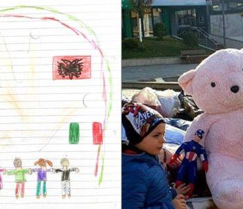 Tërmeti/ E mitura italiane dërgon kursimet dhe një letër dashurie për fëmijët shqiptarë