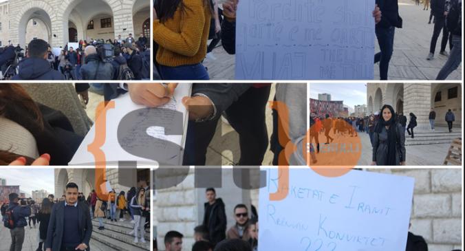 """""""Duhet të kemi prindërit e vdekur të fitojmë!"""", rindizen protestat e studentëve (Foto+Video)"""