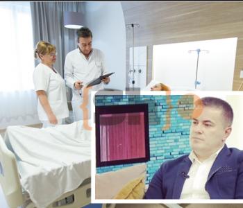 """Ekskluzive/ """"Në dhomën"""" e pacientes me koronavirus që po trajtohet nga mjeku në Shkup"""