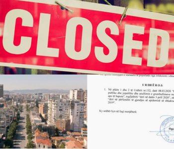 Lëvizjet e qytetarëve dhe hapja e bizneseve shtyhen me afat të pacaktuar, ja 8 urdhrat