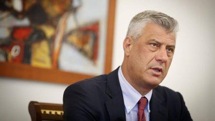 Hashim Thaçi: Kurti po sillet si njeri i paligjshëm në skedën politike
