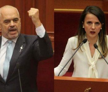 """""""Je bërë si Gruevski, do kesh fatin e tij"""", Rudina Hajdari sulmon Edi Ramën në Kuvend"""