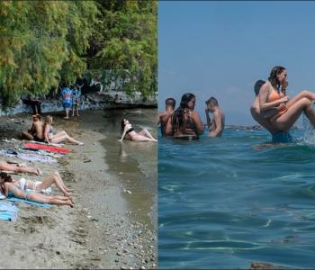 Grekët i japin fund karantinimit dynden nëpër plazhe dhe zona turistike (Foto)