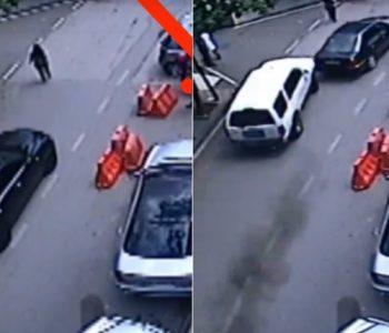 """VIDEO/ Momenti kur i riu me shpejtësi """"skëterrë"""" çan derën e policisë në Elbasan"""